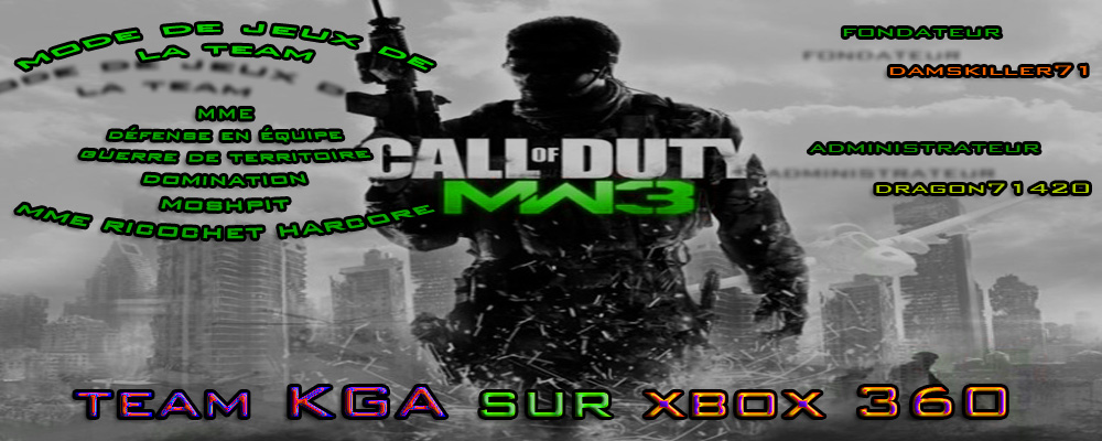Team de call of duty modern warfare 3 sur xbox 360  Index du Forum