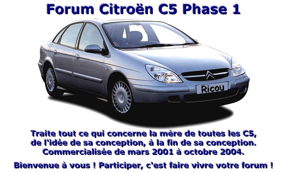 Citroën C5 phase 1 Forum Index