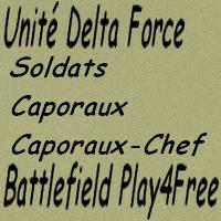soldats, caporaux et caporaux-chef