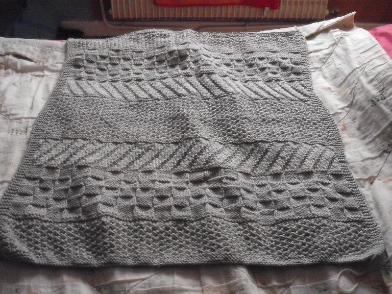 tricoter une grosse couverture
