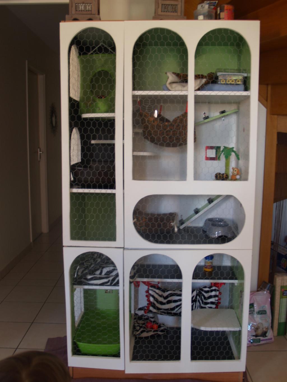 Furet vison cage fabrication maison a vendre for Accessoire furet fait maison