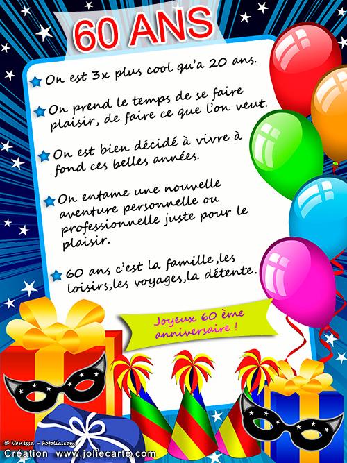 Carte Anniversaire 60 Ans Femme Humour Coleteremelly Official