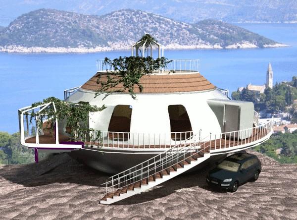 maisons flottante. Black Bedroom Furniture Sets. Home Design Ideas
