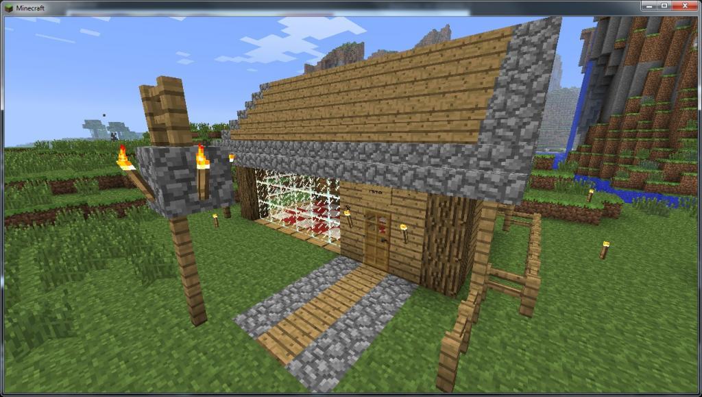 et les 2 ensembles - Lampadaire Minecraft