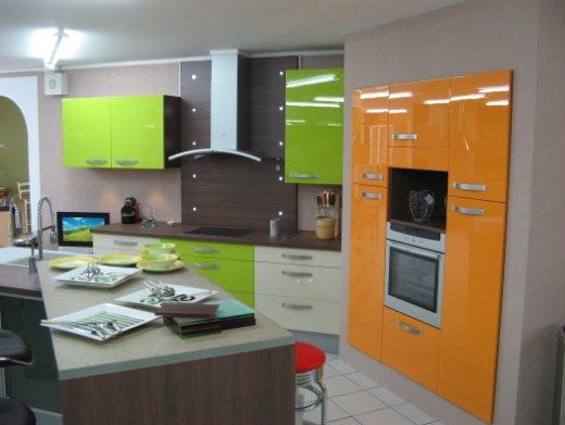 Stunning Cuisine De Couleur Vert Et Oronge Pictures Antoniogarcia