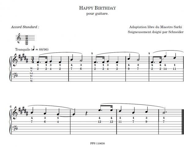 joyeux anniversaire chanson guitare