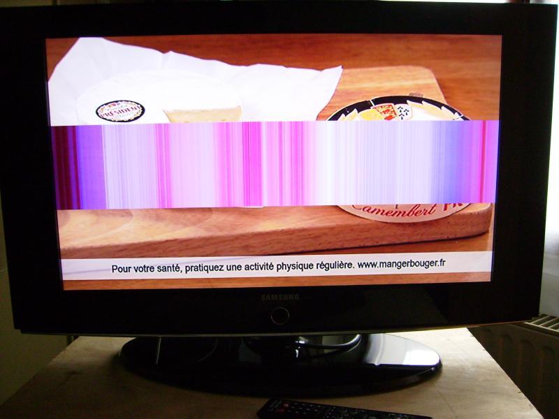 teleservice forum d pannage electronique lcd samsung le32s86bd bande horizontale resolue. Black Bedroom Furniture Sets. Home Design Ideas