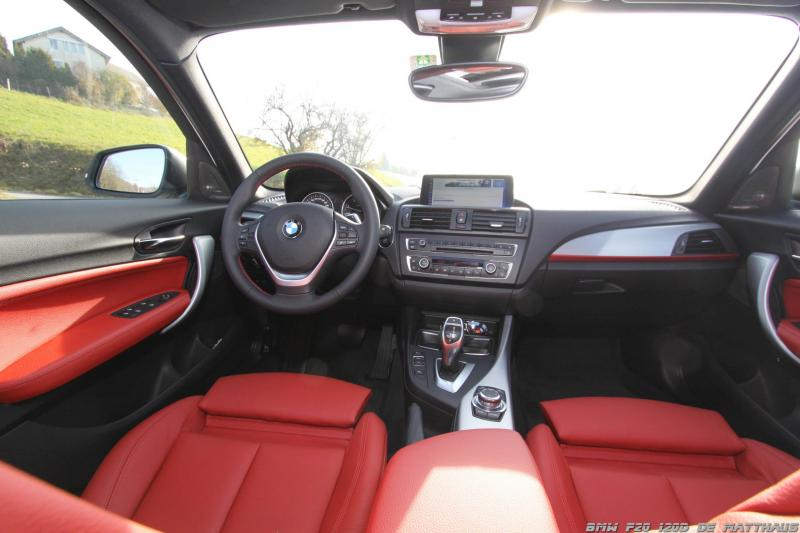 Forum bmw s rie 1 f20 120d blanche rouge for Serie 1 interieur