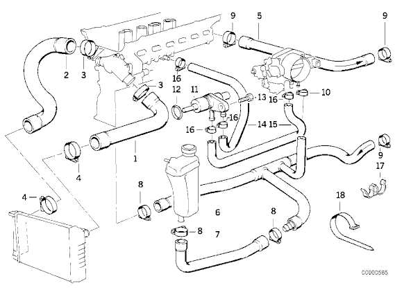 E30 Coolant Diagram