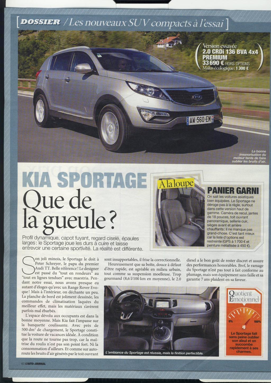 forum du kia sportage iii et iv comparatif autojournal du 23 02 2012 des suv du moment dont. Black Bedroom Furniture Sets. Home Design Ideas