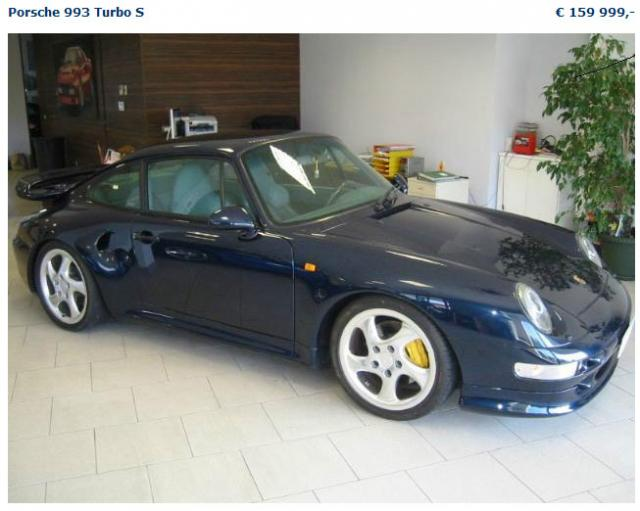 importer auto et sportive de luxe 993 turbo s a cote. Black Bedroom Furniture Sets. Home Design Ideas
