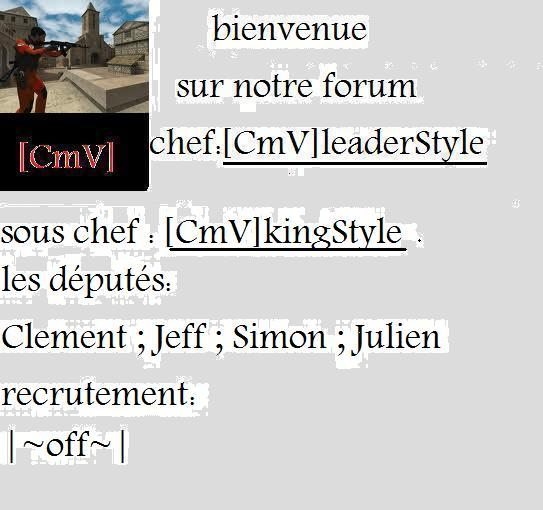 [cmv]team!! Index du Forum