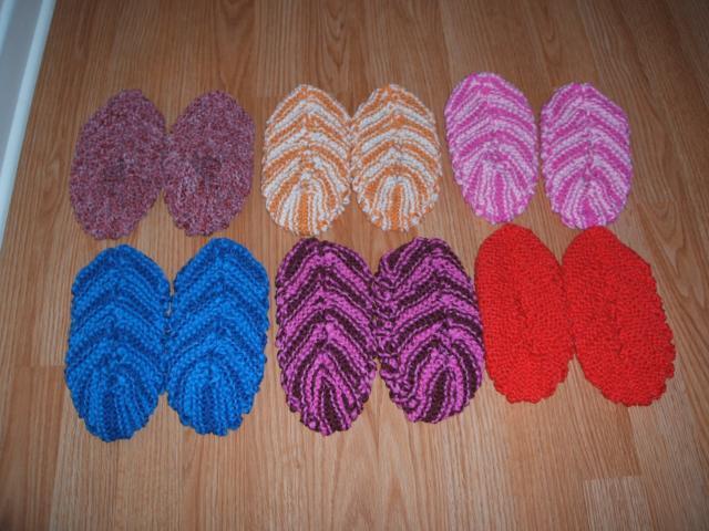 comment tricoter des pantoufles en phentex