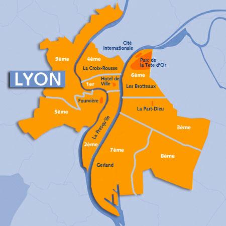 Le site des clochers de la France :: Plan de Lyon