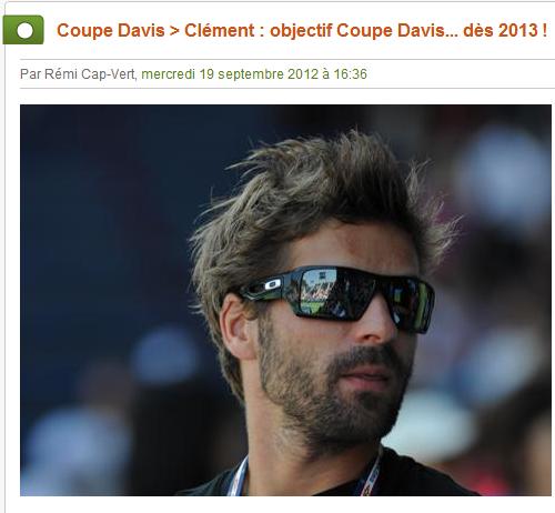 Forum des supporters d 39 arnaud clement la coupe davis 2013 - Arnaud clement coupe davis ...