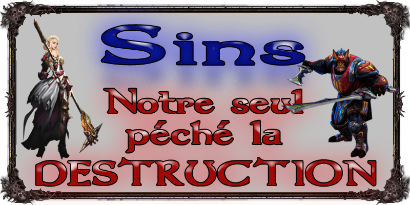 Sins - La Guilde Index du Forum
