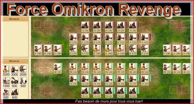 Force Omikron Revenge Index du Forum