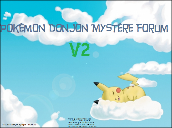 Pokémon Donjon Mystère Forum Index du Forum