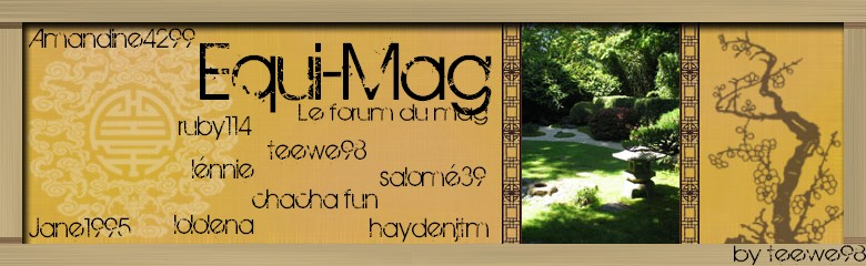 equi-mag, forum du magazine Index du Forum