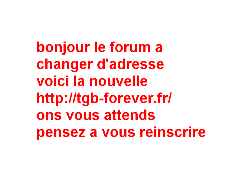 Index du Forum