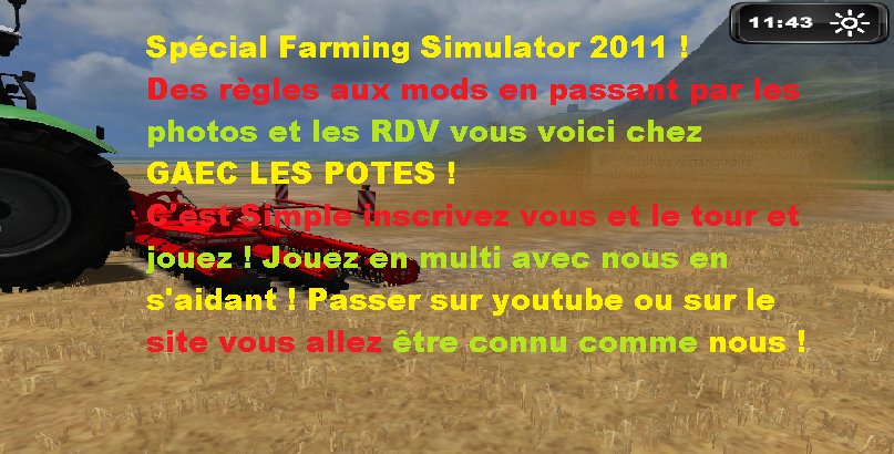 Farming Simulator 2011 Index du Forum
