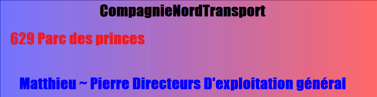 Compagnie-Nord-Transport Index du Forum