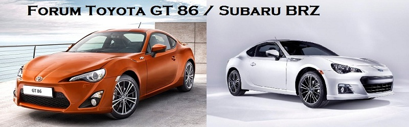 Forum Toyota GT 86 et Subaru BRZ Index du Forum