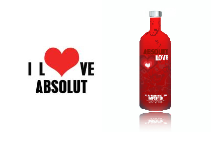 almost time for valentines and we do love our absolut wink - Valentines Vodka