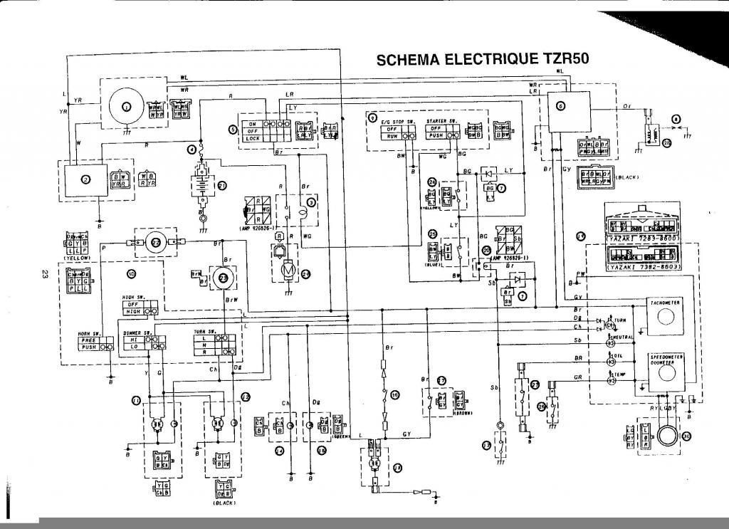 Schema Elettrico Yamaha Tzr 50 : Pas d allumage sur tzr nd gen electricité forum