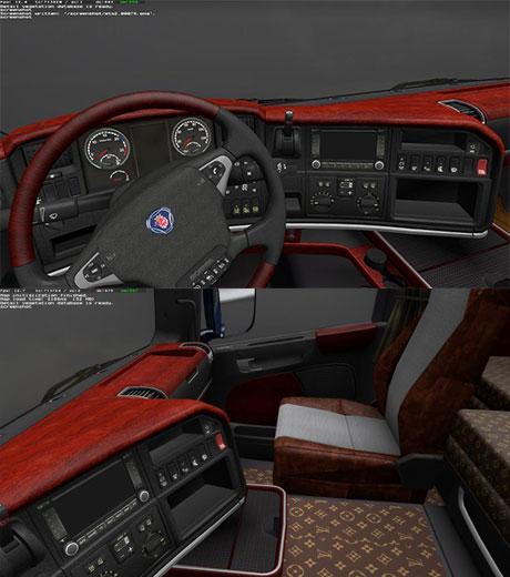 Hungary truck design team scania wood and leather interior for Interior design simulator