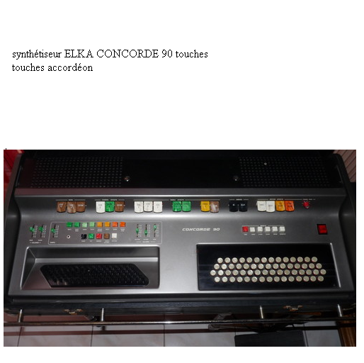 keyboards fan club france synth tiseur elka concorde 90 touches accord on. Black Bedroom Furniture Sets. Home Design Ideas