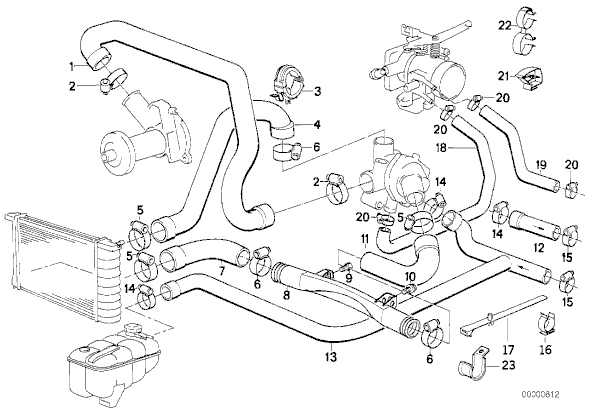 T16 Tout Pour Rentrer Un M30 Dans Une E30 furthermore 11531439134 together with 2000 Bmw E39 Cooling System Diagram in addition Bmw E36 Engine Diagram Water Hoses besides E28 Engine Diagram. on bmw e30 cooling system