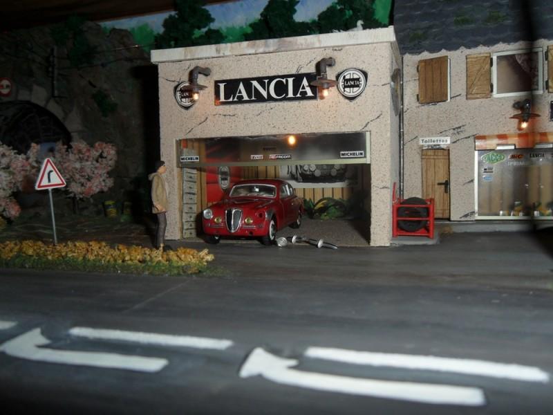 passion sportive d 39 automobiles cantaliennes diorama garage lancia. Black Bedroom Furniture Sets. Home Design Ideas