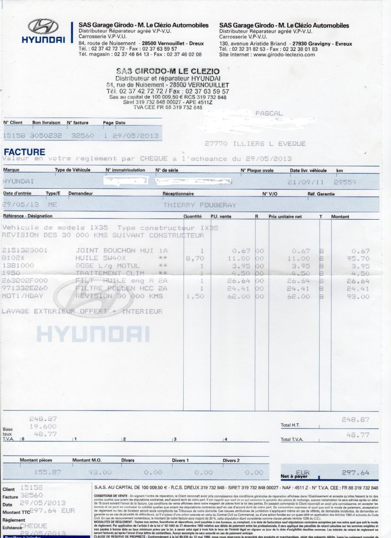 Forum hyundai ix et cie depuis 2009 entretien ix 35 for Devis entretien espace vert