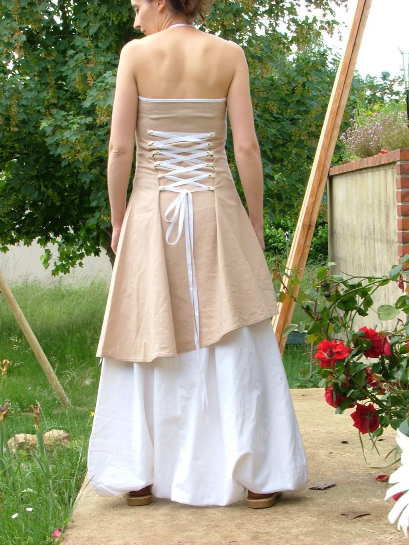 Les f es tisseuses sarouel robe en lin pour mariage for Devinez des robes pour le mariage