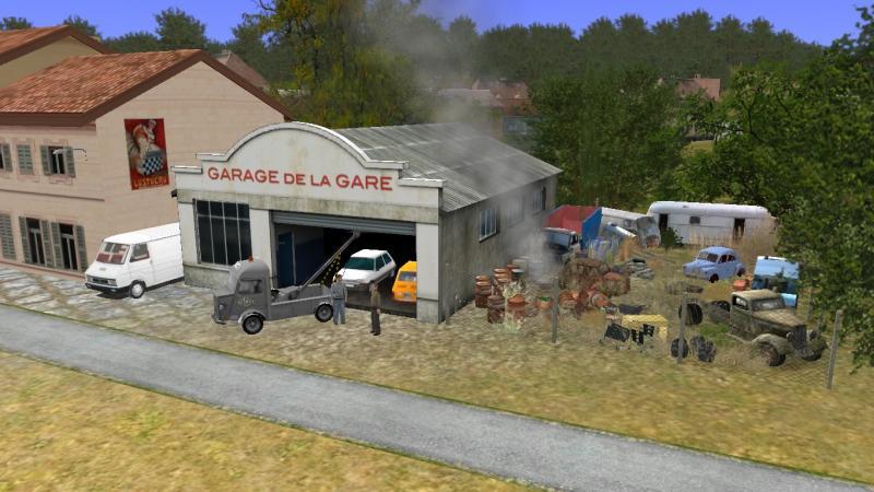 Trainz compagnie evocation de la ligne des c vennes for Garage de la diligence taverny