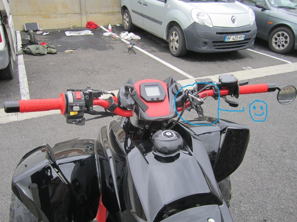 Atv quad superquader tout l univers du superquader montage coupe circuit a fourchette sur - Montage coupe circuit voiture ...