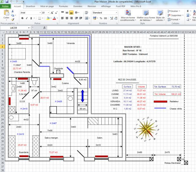 Comment faire plan maison excel - Faire un plan maison ...