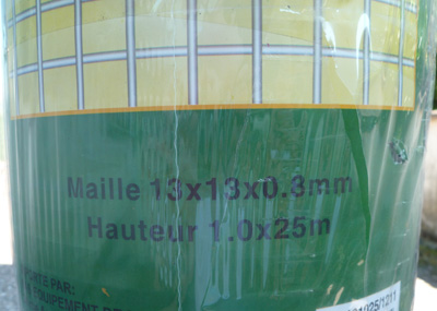 1 rouleau grillage maille 13x13mm nancy 54. Black Bedroom Furniture Sets. Home Design Ideas
