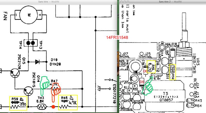 Alimentation ALINCO DM330MV - Modification de la gestion de la vitesse du ventilateur Localisation-comm...tilateur-432fb71