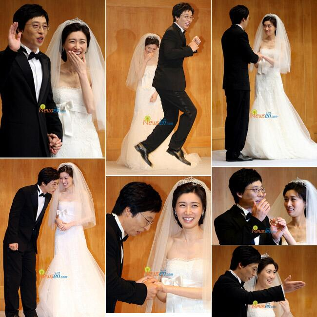 MC Yoo Jae Suk amp Na Kyung Euns wedding