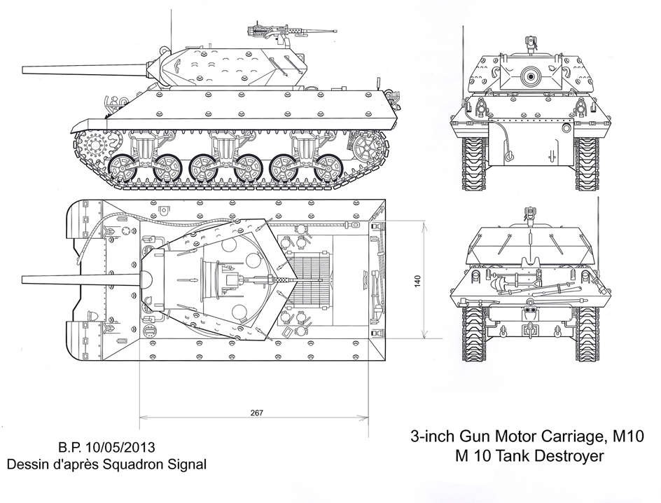 3-inch Gun Motor Carriage M 10 Tank Destroyer M10-t.d-a-3e0fecb
