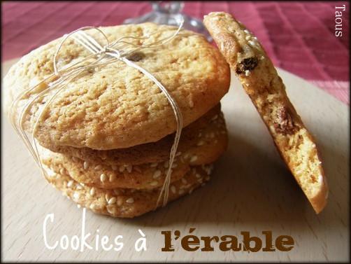 Cookies-sucre d'érable-canada-Taous