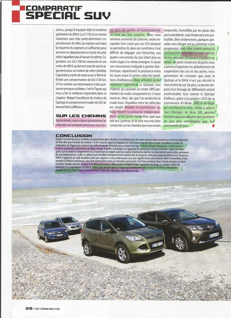 passion suv comparatif suv par 4x4 tt magazine de juin juillet 2013 kuga rav 4 qq tigan. Black Bedroom Furniture Sets. Home Design Ideas