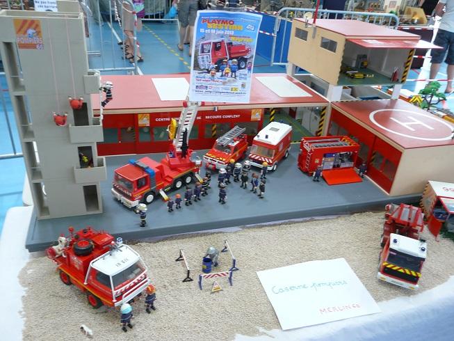 expositions playmobil dans les regions du sud diorama pompiers secours par jsp13. Black Bedroom Furniture Sets. Home Design Ideas