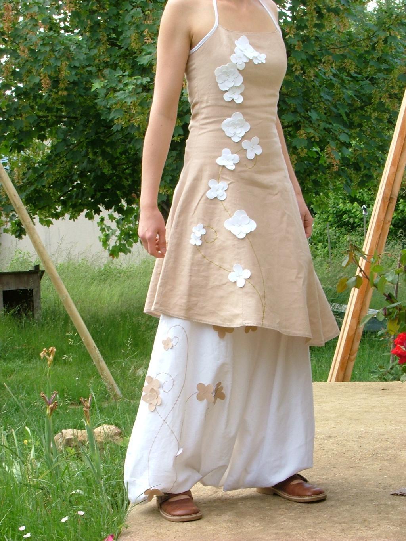 les f es tisseuses sarouel robe en lin pour mariage. Black Bedroom Furniture Sets. Home Design Ideas