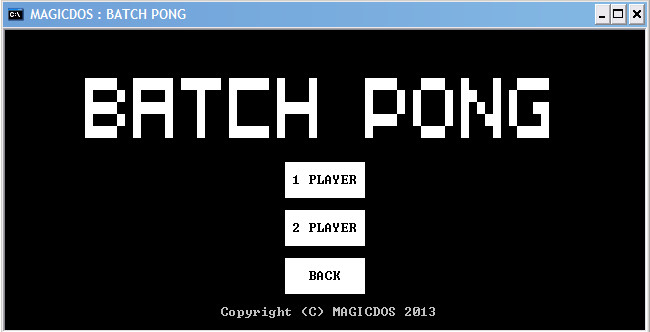 Batch :: [BATCH GAME] PONG