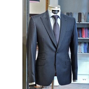 Depiedencap costume 2 pi ces gris anthracite rayures pinstripe - Costume gris fonce ...