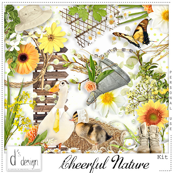 Le blog de kittyscrap doudou 39 s designs cheerful nature for Cheerful nature