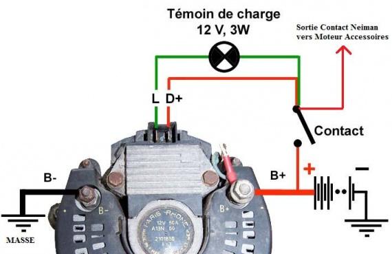 Comment tester alternateur de voiture - Branchement coupe circuit 6 poles ...